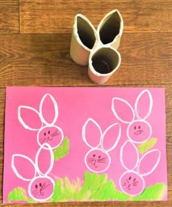 Super Adorable Easter Bunny Print Paint Idea