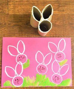 Super Adorable Easter Bunny Print Paint Idea