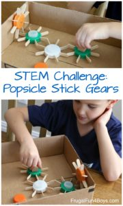 Build Working Gears out of Popsicle Sticks – #stem #stemactivities for Kids
