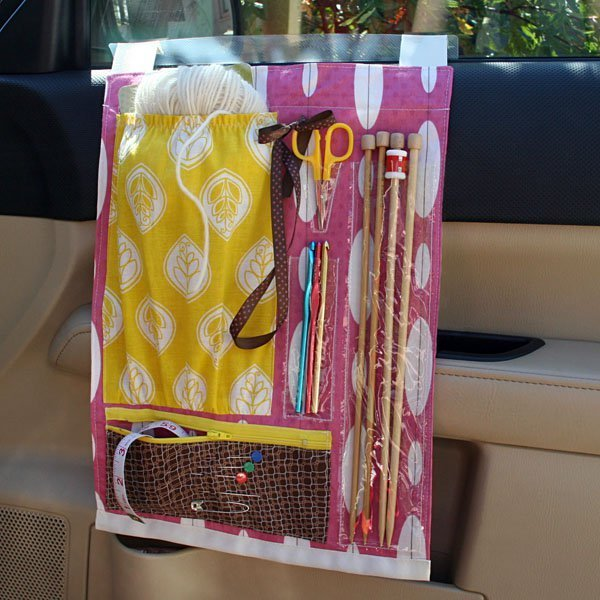 DIY Fabric Scrap Project: Car Craft Caddy with Various Division