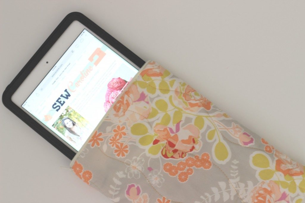Quilted iPad Mini Pouch: A Fat Quarter Zipped Project Idea