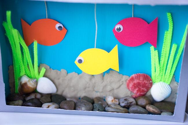 Cereal Box Aquarium: An Utterly Easy Aquarium Craft with Cardboard