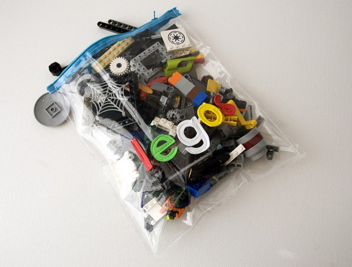 Clear Lego Storage Pouch with Transparent Plastic Material and Zipper Closer