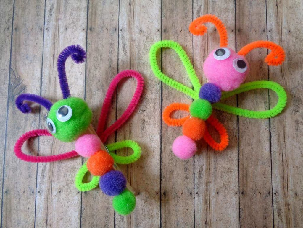 Latest Diy Butterfly Craft Idea For Kids With Clothespins And
