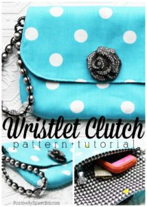 Super Elegant Clutch Handbag Sewing Pattern with Catchy Jewel Embellishment