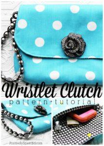 Super Elegant Clutch Handbag Sewing Pattern with Catchy Jewel Embellishment