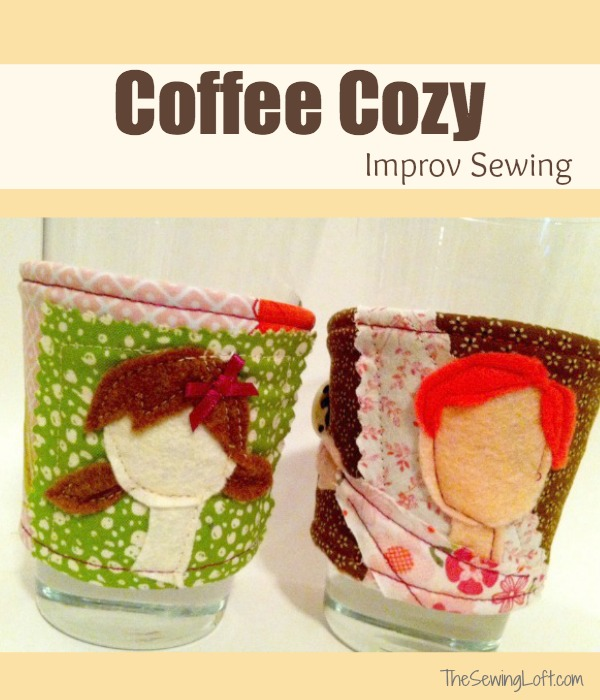 DIY Coffee Cozy: Wonderful Felt Applique Work on Quilted Fabric