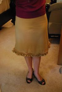 Ruffle Bottom Skirt Tutorial: A Trendy Homemade Skirt with Flared Hemline