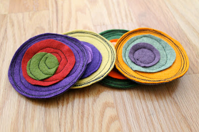 Charming Fabric Scrap Coaster with Brilliant Color Combination and Perfect Thickness