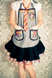 Delightful Harry Potter Aprons with Free Sewing Patterns and Layered Tiers