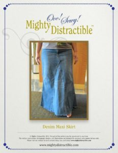 Denim Maxi Skirt: A rustic DIY outfit in Classy Ankle-Length Free Pattern