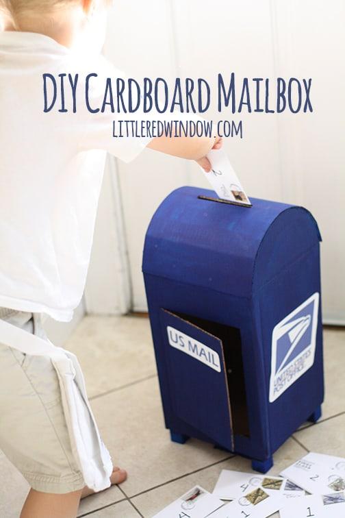 DIY Cardboard Mailbox: A Highly Functional DIY Craft Idea for Kids