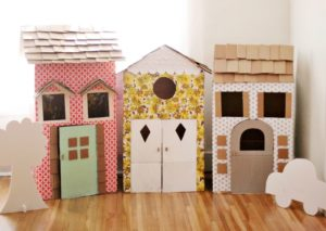 DIY Cardboard Playhouses- A Wide Playing Craft with Hard Material