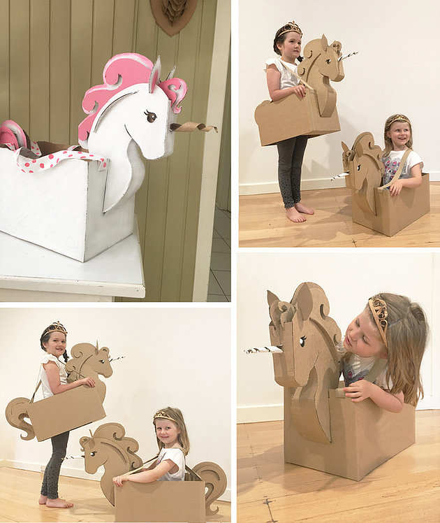 Fascinating DIY Cardboard Unicorn Costume with Walled Cardboard Box