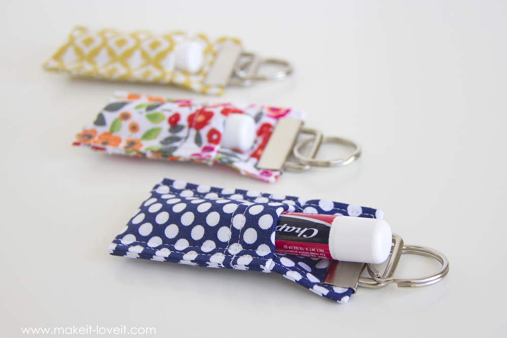 DIY Fabric Chapstick Holder with Catchy Design: A Simple Fabric Scrap Craft for Daily Use