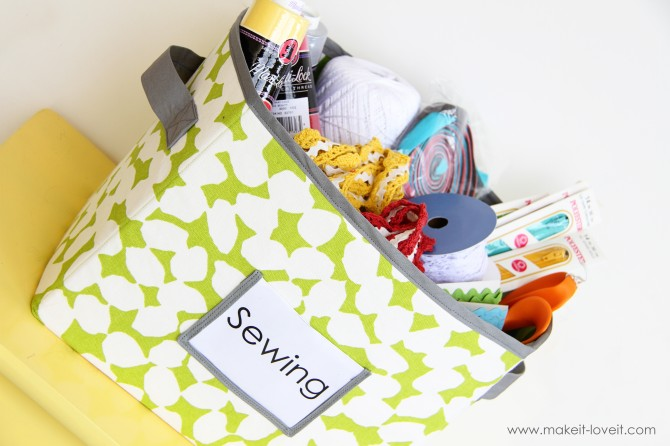 Utterly Functional Sewing Project DIY Fabric Storage Boxes with Two Holding Loops