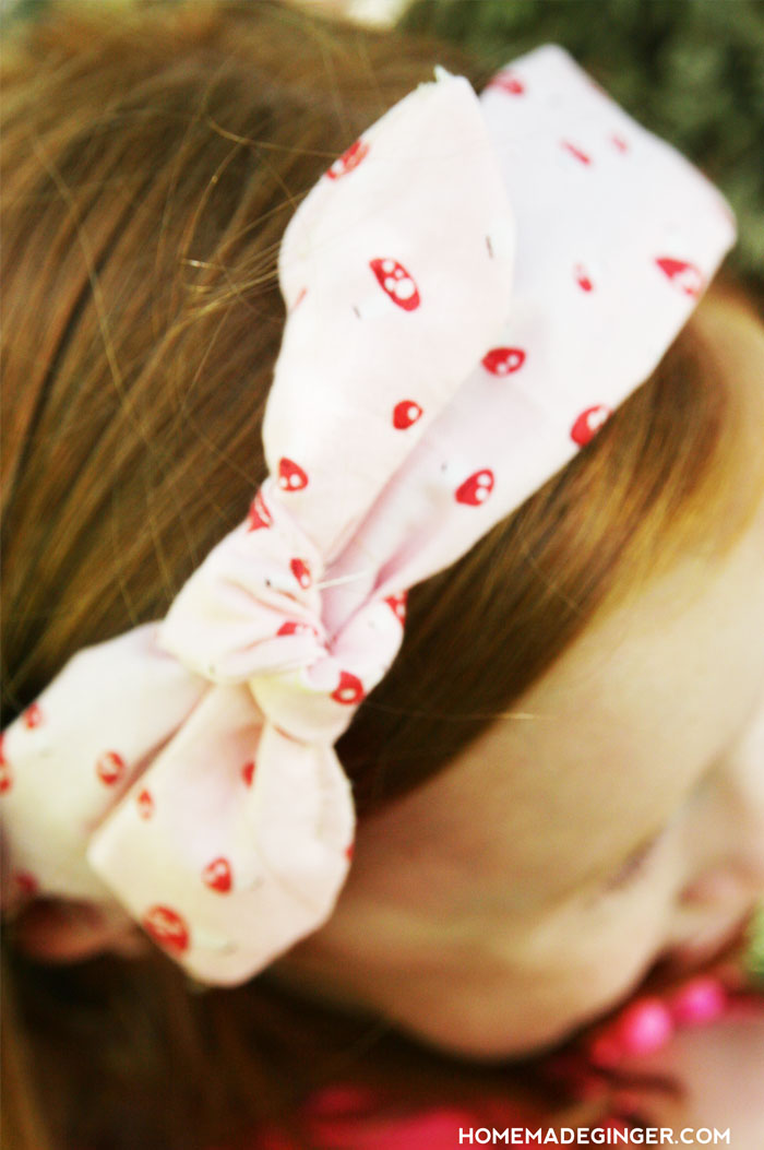 DIY Pretty Faux Tied Headbands for Girls By Homemade Ginger