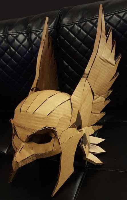 DIY Hawk Helmet: The Perfect Cardboard Craft for Halloween