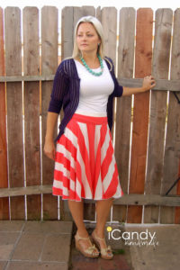 DIY Ice Cream Social Skirt Tutorial: A Bold-Looking Skirt with Popsicle Flavor Coloring