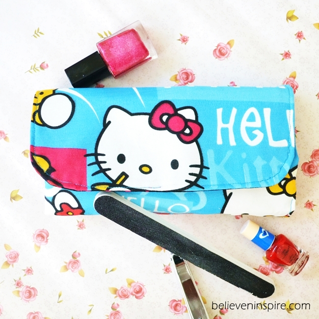 DIY Back to School Sewing Ideas: Simple Fabric Manicure Pouch