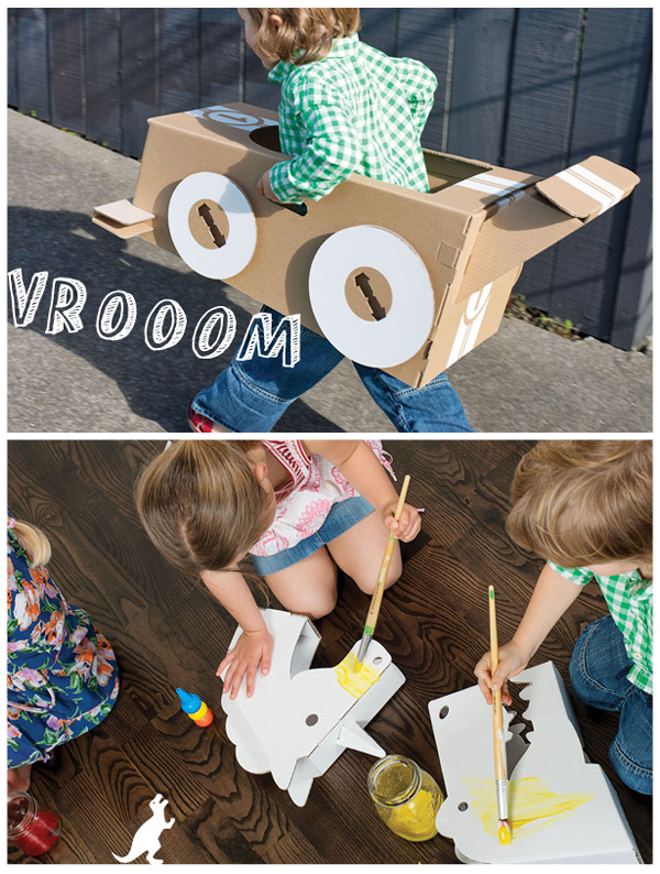 DIY Cardboard Riding Dino Craft: A Brilliant Project for Kids to Play With