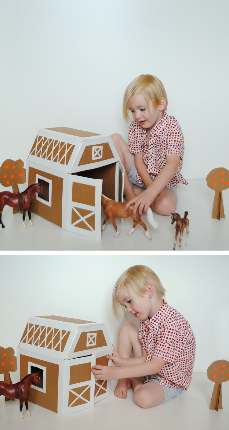 DIY Play Horse Stable: A Majestic Stable Structure from Cardboard