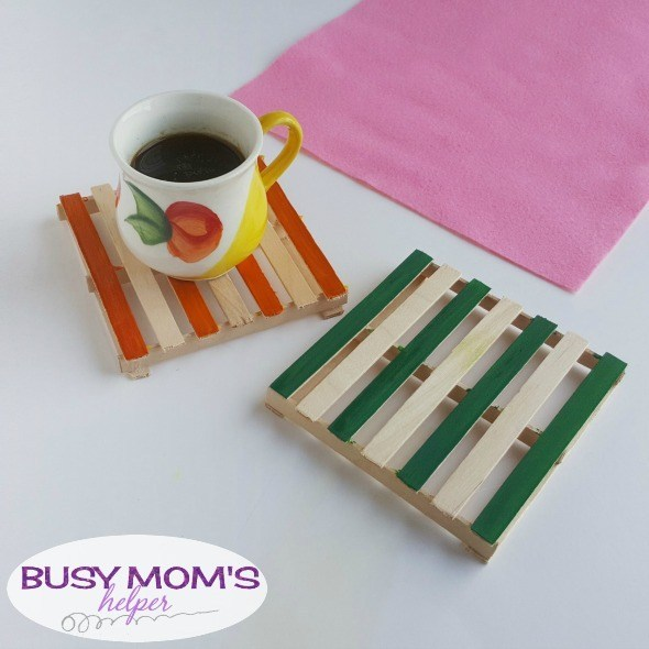 DIY Popsicle Stick Coasters: A Wonderful Mother's Day Craft Idea for Toddlers