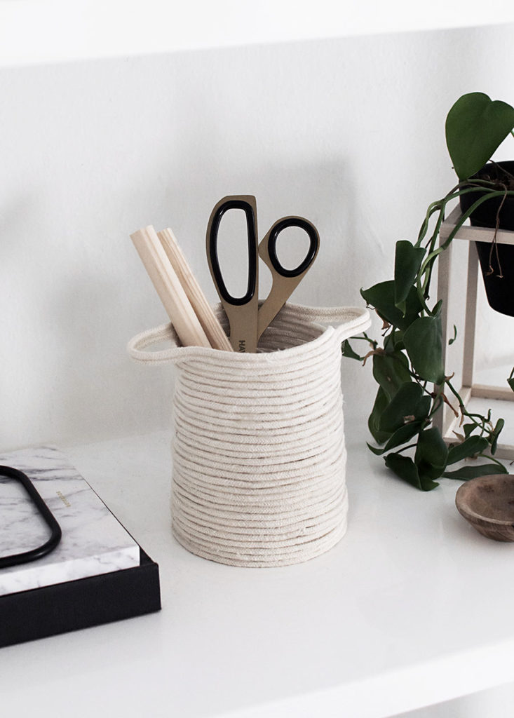 Small Rope Basket: Quick & Easy DIY Organizer