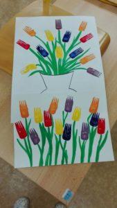Colorful DIY Spring Flower Prints with Fork