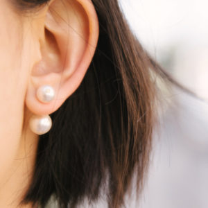 DIY Earrings: Runway-Inspired Double Pearl Earring