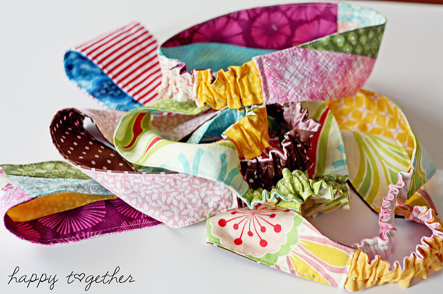 DIY Double Sided Fabric Headband Pattern wit Flexible End Loops
