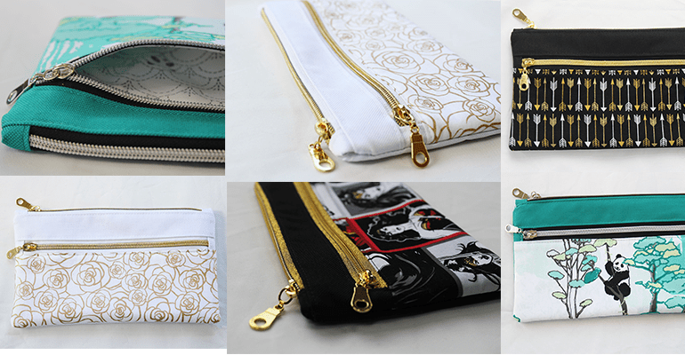 Stylish Double Zipper Pouch Tutorial By My Handmade Space