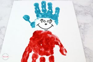 Preschoolers DIY Painting: Hand-Print Human Figure with Watercolor
