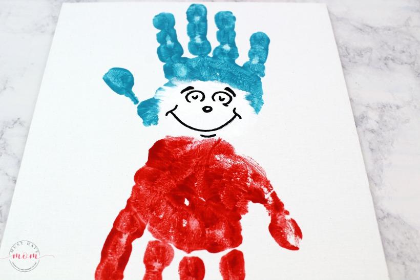 Preschoolers DIY Painting: Hand-Print Human Figure with Watercolor