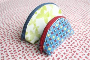 Dumpling Zipper Pouch Project with Girly Pretty Printed Poly Fabric Material