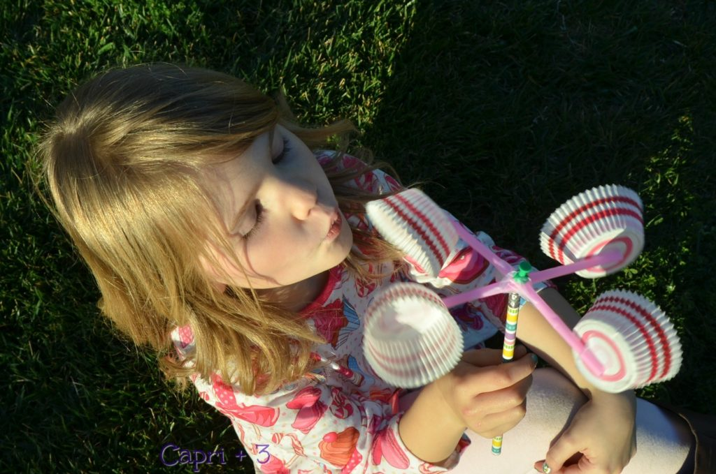 DIY Anemometer with Plastic Straws, Pencil, and Cupcake Liners