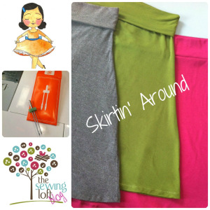 Easy Knit Skirt Tutorial: DIY Skirt in Knock Off Pattern from Knit Fabric