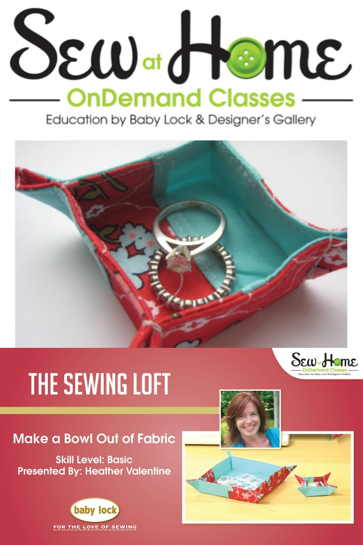Video Tutorial of Trendy Fabric Bowl and DIY Jewelry Holder