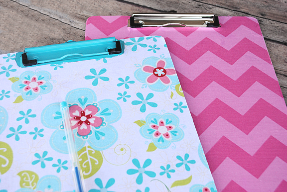 Fabric Covered Clipboard Tutorial with Pattern Fabric Prints