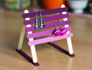 Popsicle Stick Earring Holder: An Useful DIY Craft Idea for Mothers