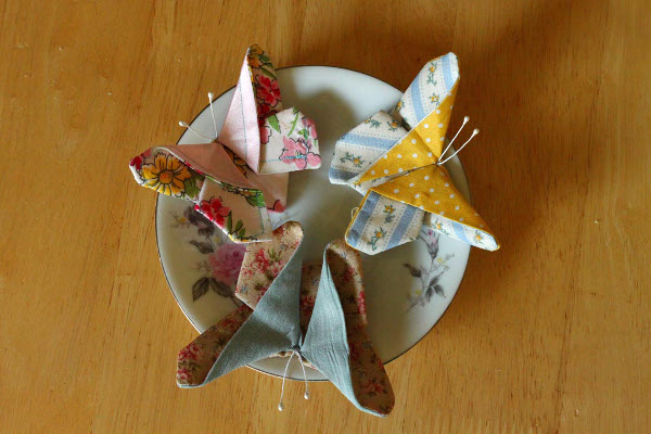 Fanciful Fabric Butterflies: Simple DIY Sewed Craft Idea Out of Fabric Scraps