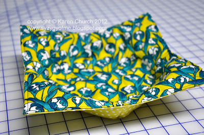 Wonderfully Functional DIY Fat Quarter Bowl Cozier from Quilting Fabric