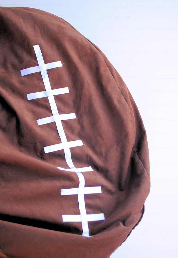Pleasing Football Bean Bag Chair Tutorial The Simplest Way To Make A Ncnpc Chair Design For Home Ncnpcorg