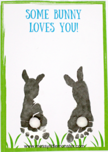 DIY Foot-Printed Bunny Card for Mother's Day