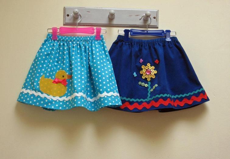 Free Pattern Little Duckie Skirt Pattern with Pretty Applique Works
