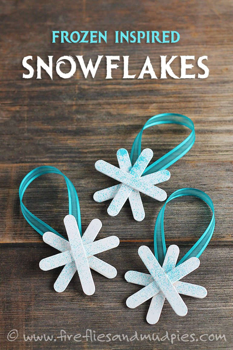Frozen-Inspired Snowflake Ornaments Idea for Toddlers