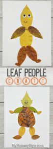 Super Cute Leaf People Craft for Preschoolers