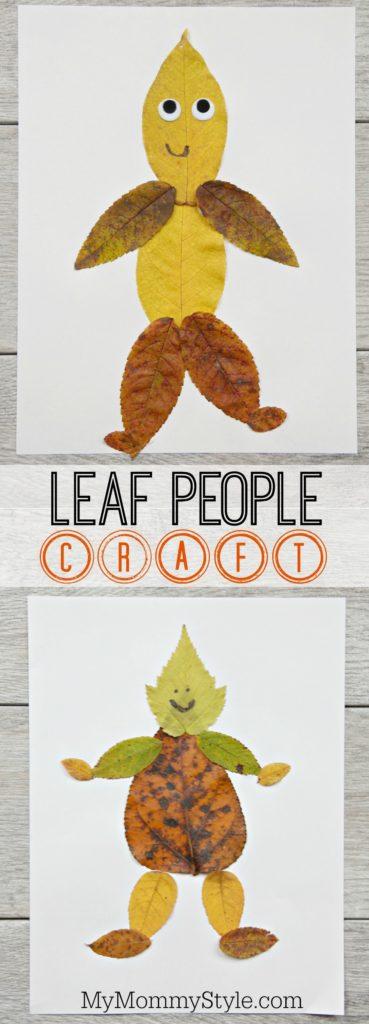 Super Cute Leaf People Craft for Preschoolers