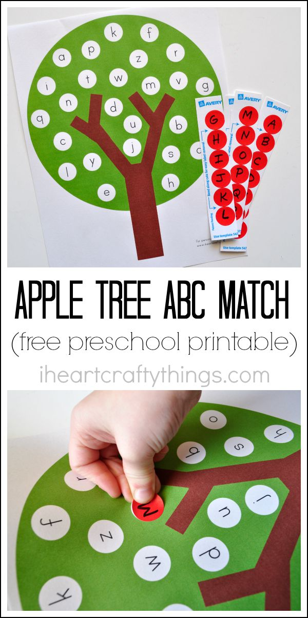 Apple Tree ABC Match: A Common Alphabetical Game for Kids