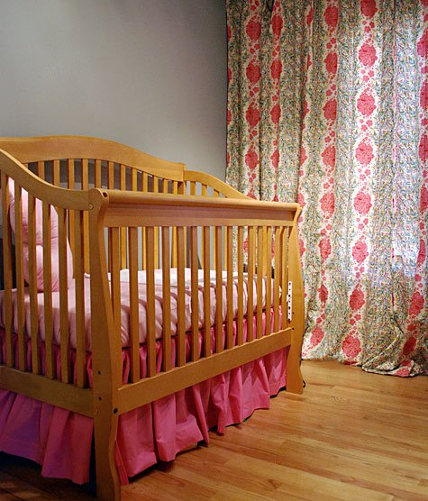 Gathered Dust Ruffle Bed Skirt for Cribs and Toddler Beds in Pretty Pink Shade
